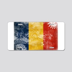 Romania Flag Aluminum License Plate